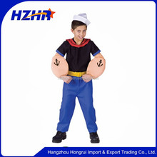 Carnival Kids Costume Uniform Popeye Sailor Halloween Popeye Cosplay Costume