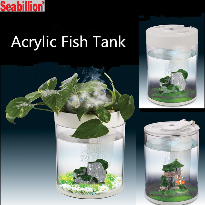 Plant Forest Acrylic Fish Tank With Led Light Fancy Fish