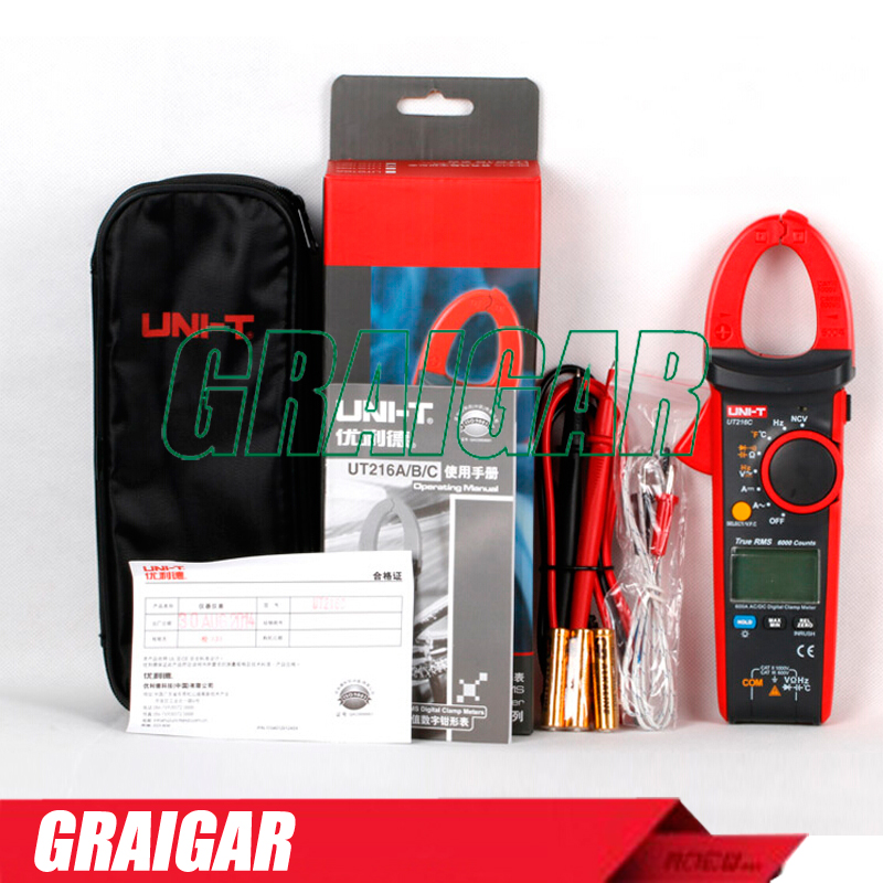 UNI-T UT216C 600A True RMS Digital Clamp Meters Auto Range w/Frequency Capacitance Temperature NCV Test