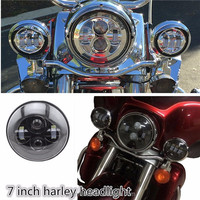 New Harley headlamp 7inch H13 H4 Hi/low Round Led Motorcycle Headlight For Harley