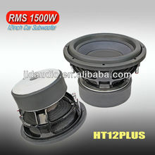 1500w competition car subwoofer 75-90dB SPL speaker 12 inch subwoofer for car audio