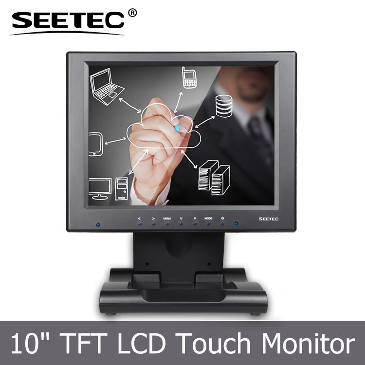 High resolution 1024*768 pixels 10 inch industrial advertising lcd monitor for computer