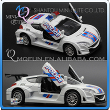 Mini Qute 1:32 kid Die Cast pull back alloy music police racing car vehicle model car electronic educational toy NO.MQ 0536B