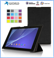 Slim Smart Cover Stand Leather Case for Sony Xperia Z2 Tablet 10.1 with Magnetic Closure