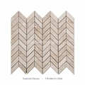 New Arrival Polished And Chevron Shaped Travertine Marble Mosaic