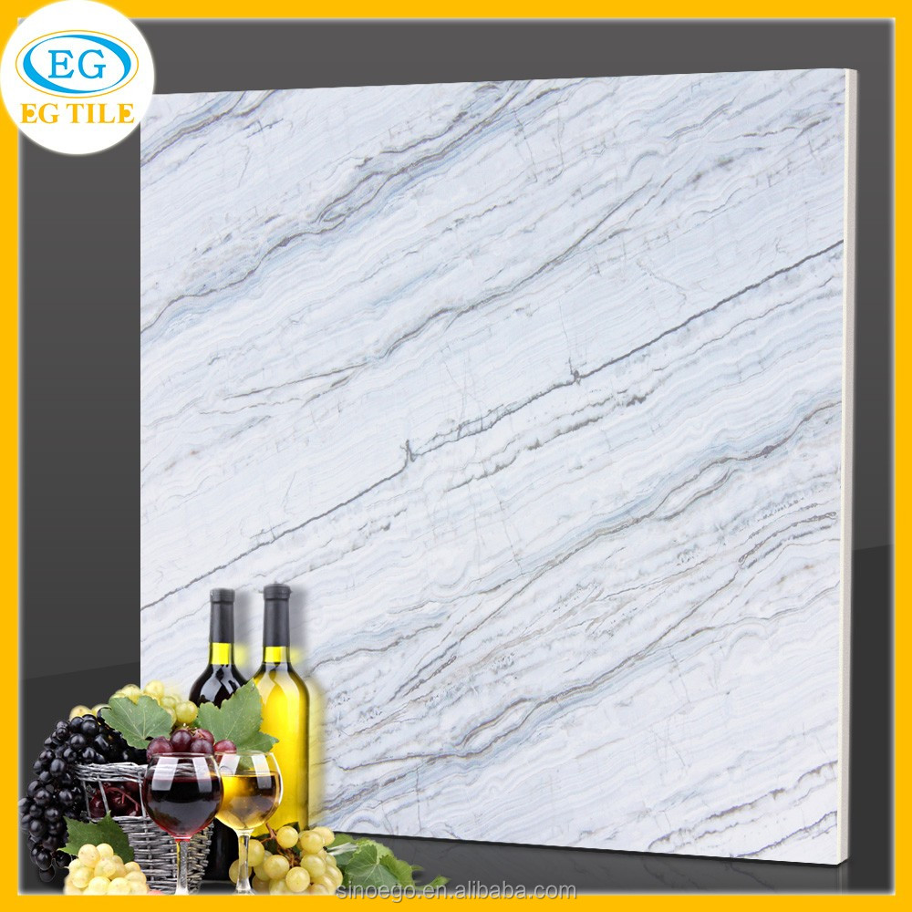 Commercial projects High quality Italian Carrara white glazed marble porcelain floor tile 600X600 800x800mm Foshan City