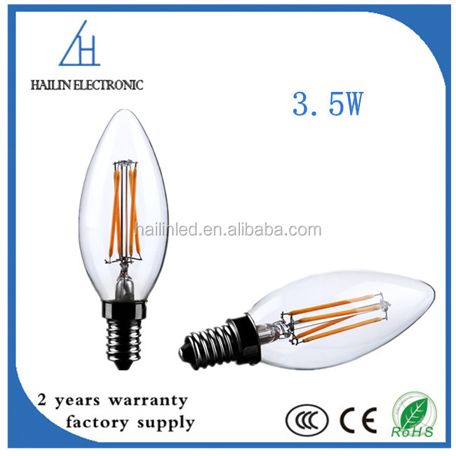 3.5W B22 E27 E14 LED Filament Pandent Edison Bulb C35 LED Candle Light