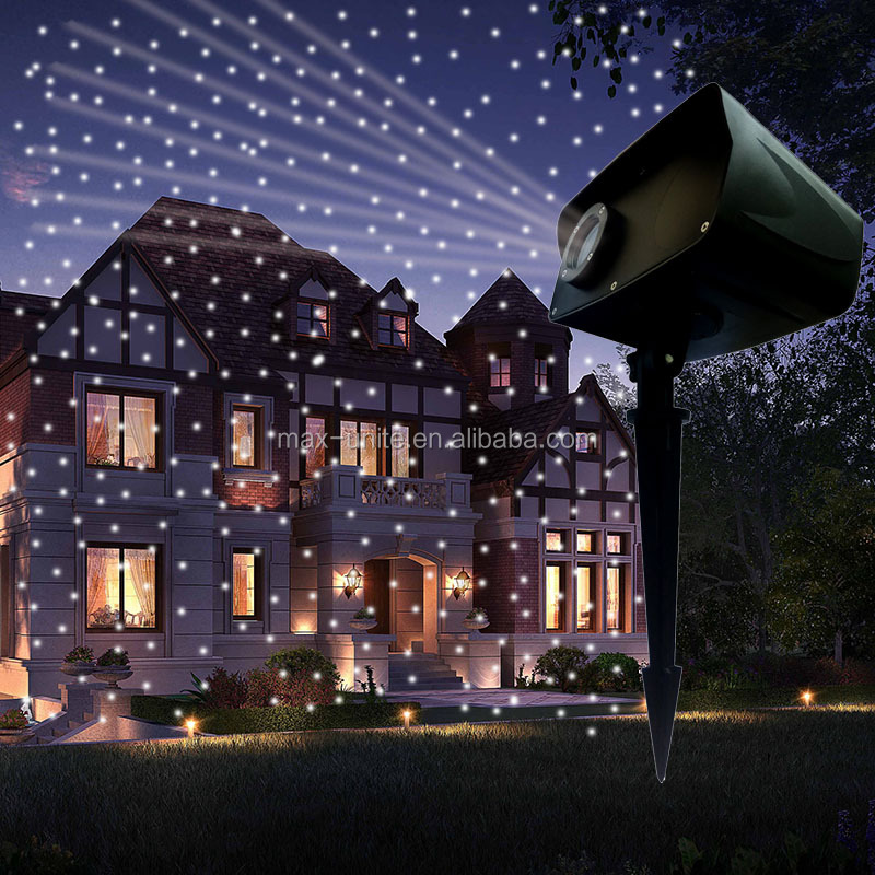 120V 12 volt dc mini outdoor ip44 waterproof garden moving white laser star projector christmas light