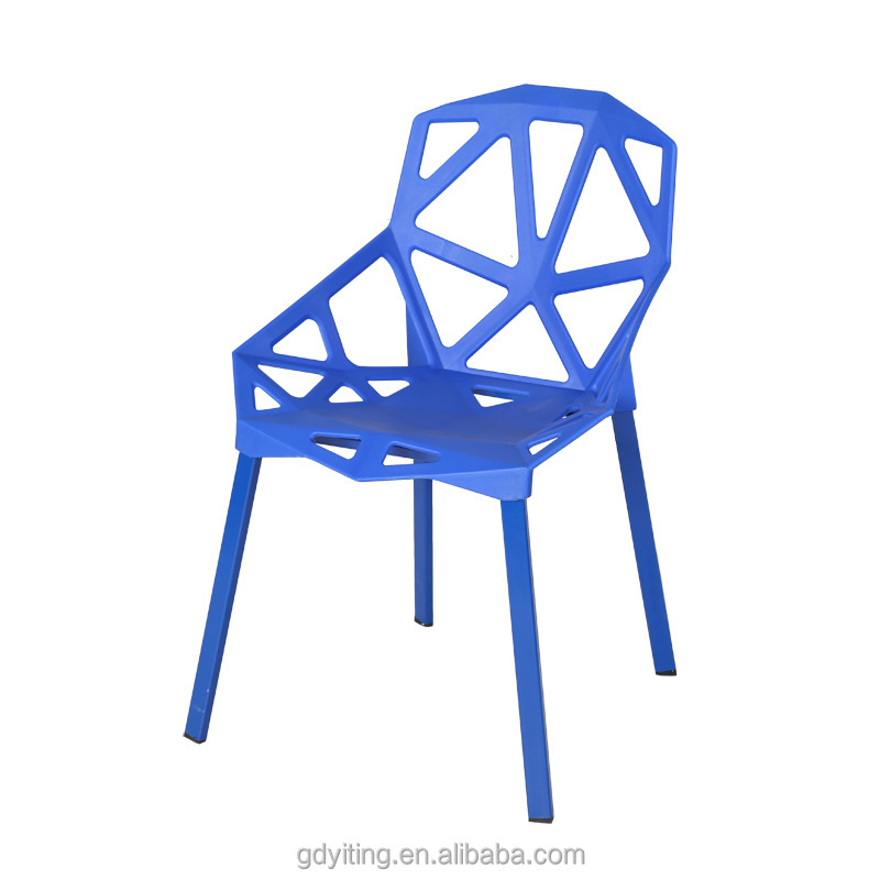 Event dinging living room use Plastic Chair with metal