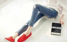 Fashion style hotsale top design lady broken holes nice jeans