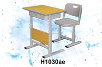 wooden school furniture metal leg student desk and chair