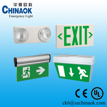 UL Emergency exit sign light