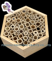 wooden and bamboo Hexagonal insect and bee house