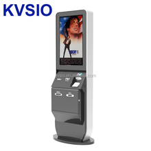 42inch touch screen self service cinema ticket vending machine with barcode scanner, card dispenser