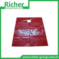 Red Boutique Round Hole Plastic Shopping Bag