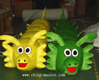 On sale,fast shipping, lowest price&high quality yellow and green dragon mascot costume!