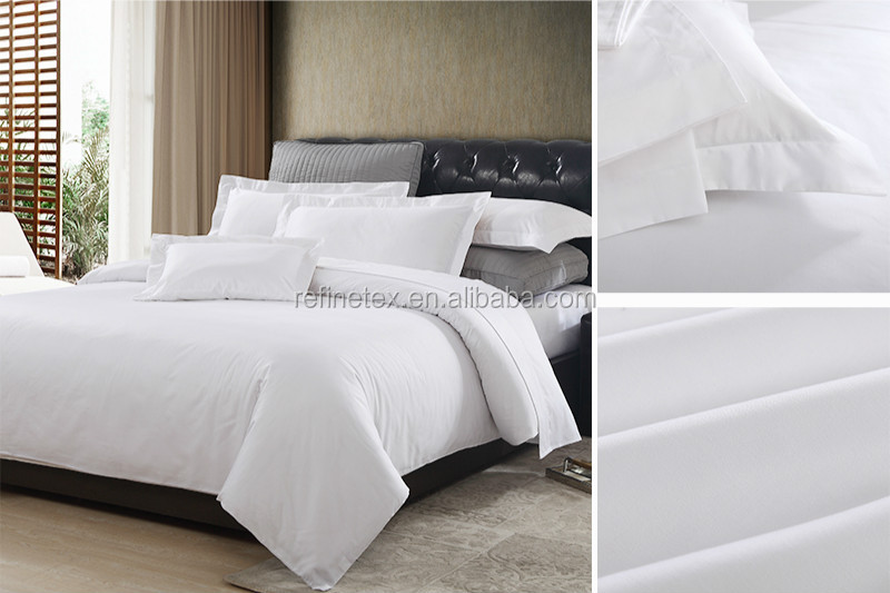 Shanghai hotel textile supplier, professional hotel bed linen, bed sheet set