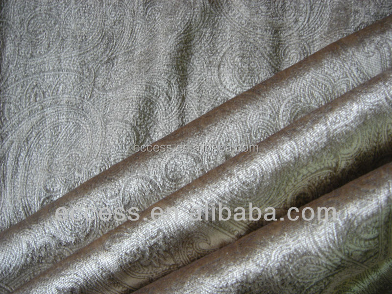 bronzed silk velvet fabric for curtain and home upholstery
