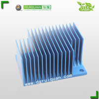 6063 T5 / 6061 T6 Extruded aluminum heatsink / heat sink aluminium profile with cooling fins