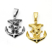 New Designs Casting Fashionable Individual Stainless Steel Anchor Rudder Eagle Viking Pendant Men Wholesale