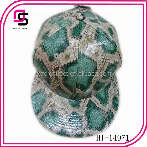 China manufacture baseball cap promotional baseball cap snake pattern design