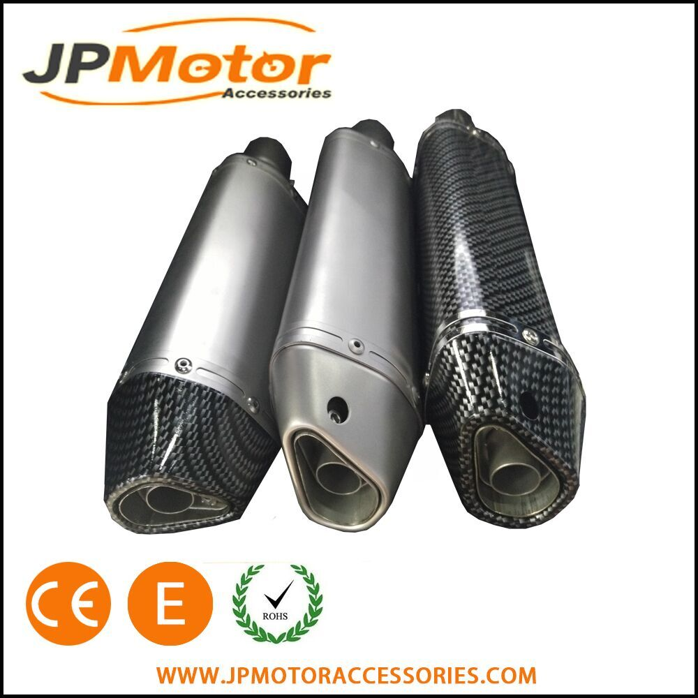 JPM 51mm slip on carbon fiber titanium motorcycle exhaust muffler 300cc scooter bikes