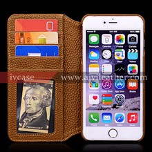 Convenient Travel Wallet Case for Iphone 6s Plus Genuine Leather