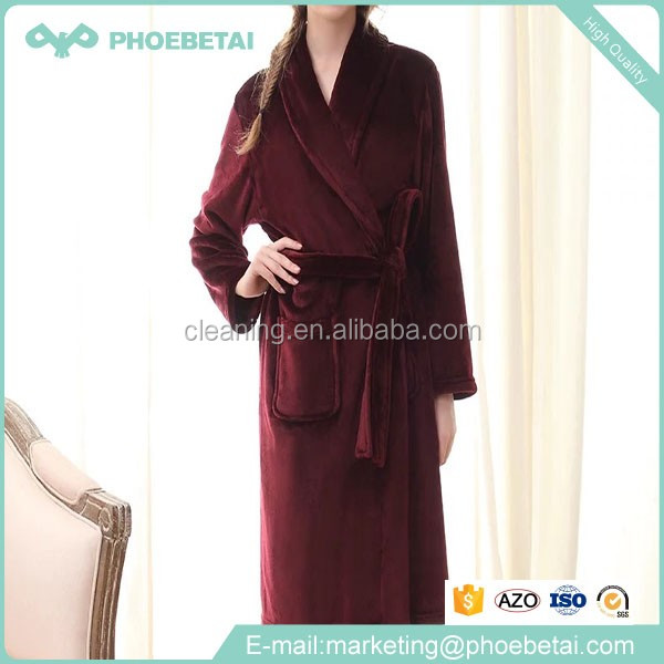 Wholesale supply luxury terry women sex plush cheap satin robes