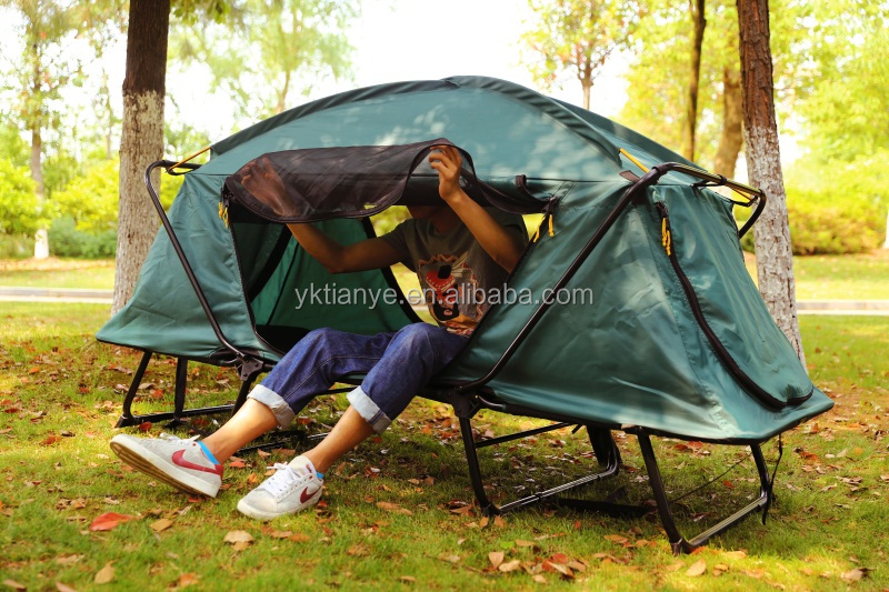 Outdoor 2 Person 4 season Waterproof Fireproof Aluminum Tunnel Camping Tent for Sale