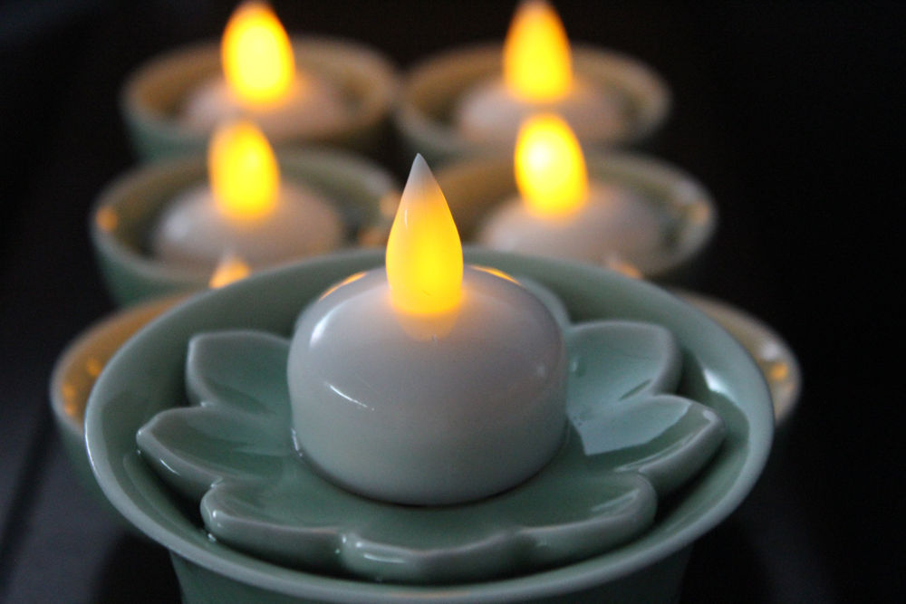 Colourful Fake Tea Light Candle ,Waterproof Flameless Candle,Battery Operated Led