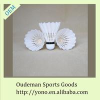 Clubs top custom goose feather badminton shuttlecock wholesale