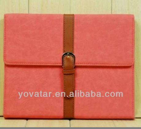 for ipad mini leather belt case with stand function