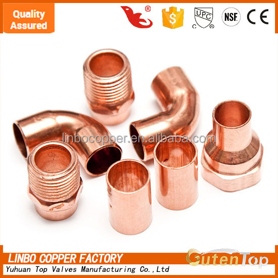 OEM brass compression fittings, customized, Tee copper pipe fitting, DOT, SAE, Din standard