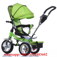 kids tricycle with back seat/swivel seat baby trike/baby walker tricycle