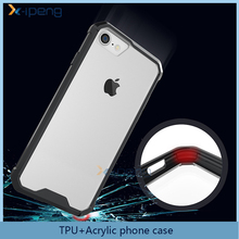 2015 New Product 5.5inch Hybrid Candy Color Edge TPU+Acrylic transparent Cell Phone Case for samsung galaxy j6