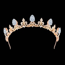 New luxury zirconia small bride mermaid rhinestone crown factory wholesale
