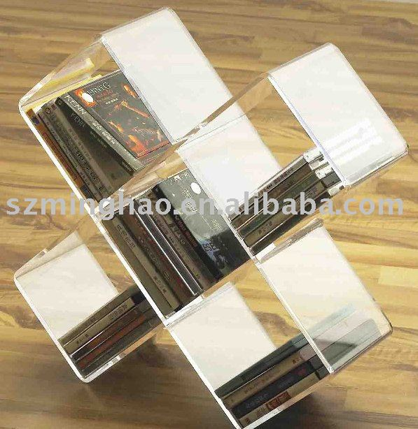 Acrylic commercial cd racks / acrylic CD display holders