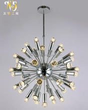 CE/FCC china made led Indoor chandelier k9 crystal bulb
