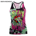 Custom Logo Womens Sleeveless Workout Gym Tank Top