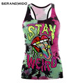 Wholesale Women 3d Digital Printing Custom Tank Top