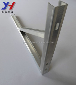 OEM ODM factory manufacture wall mounted reinforced aluminum bracket awning fixed support as your drawing