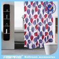 100% polyester shower curtain with weighted bottom