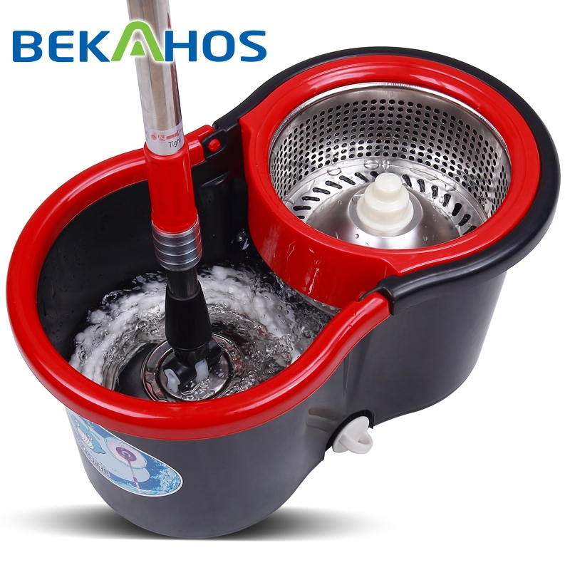 Hot design easy wring spin mop&bucket system floor spin magic microfiber mop new products