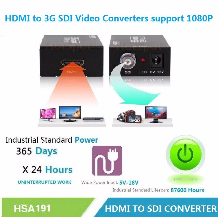 HDMI to 3G SDI Video Converters support 1080P ,Most favorable price!!!