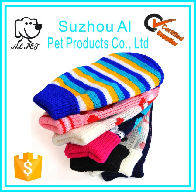 Wholesale Cute Puppy Clothes Colorful Warm Pet Dog Sweater