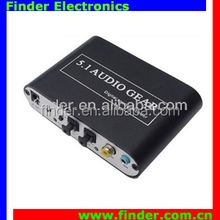 Video Converter Digital Audio to Analog Optical Audio Converter 5.1