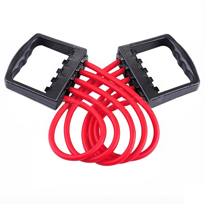 Five Spring Adjustable Rubber Gym Training Exercise Muscle Chest Pull Resistance Bands Tubes Strength Trainer