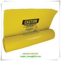 high quality heavy duty LDPE yellow asbestos bags
