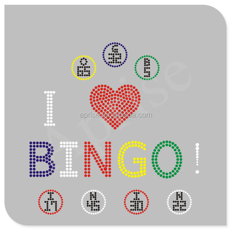 bingo hotfix rhinestone transfer custom iron on stone motif