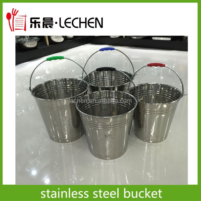 Stainless Steel Ice Bucket Water Bucket Pail Beer Bucket Wine Container Bar Suppliers Home Applicance 6L-20L